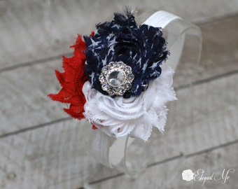 Independence Day Headband - 4th of July Headband - Red White and Blue Headband - July 4th - Baby Headband - Adult Headband - America