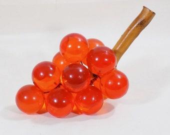Vintage Acrylic Grapes Orange