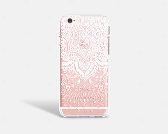 iPhone 7 Case Clear Winter iPhone 7 Plus Case White Henna iPhone 6 Plus Clear Lace iPhone Case iPhone 6 Case Wedding iPhone Case Samsung S6