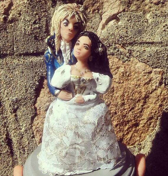 Labryrinth Wedding Cake Topper