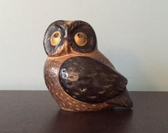 Mid Century Ceramic Owl
