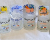 2 Grey Goose Tumbler Drinking Glasses