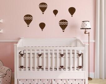 Hot Air Balloons Wall Decal - Playroom Wall Decals - Childrens Wall Decals - Vinyl Wall Decal - Nursery Decor