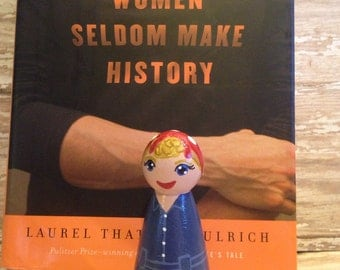 Made to Order:  Rosie the Riveter History Making Woman 3.5 inch Peg Person