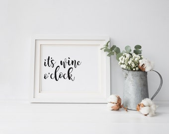 wine quote print | instant download | wine print | digital prints | printable art | wine o'clock | you had me at merlot | home decor