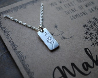 The Dandelion Wish Necklace  .  You will always be the first thing i think of when someone says make a wish