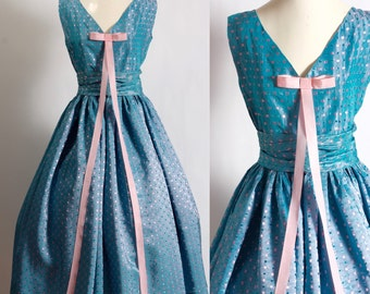 1940's Blue Skies Party Dress