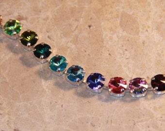 """Swarovski """"Rainbow Jewels"""" Tennis Bracelet"""