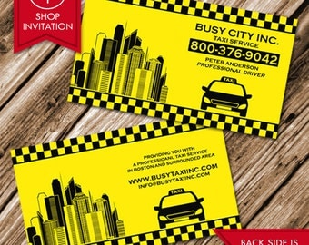 Taxi Cab Business Card (Free Shipping)