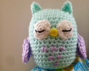 Amigurumi Owl, Crochet Owl, Toy Owl, Stuffed Owl, Crochet Animal, Stuffed Animal