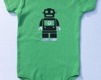 Robot Onesie, Robot, Robots, Vintage Robot, Robot Gear, Robot Love, Baby Robot, Geek, Geekery, Sci-Fi, Handmade