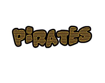 Pirates 2 layered chevron cutting file SVG Studio  Eps PNG Pdf
