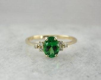 Virginia in Tsavorite Garnet Ring from the Elizabeth Henry Collection  K5D4YN-R