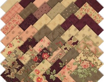 Moda Courtyard Treat 3.5-inch Squares by 3 Sisters 44120MT