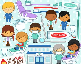 Dentist Clipart and Lineart - personal and commercial use