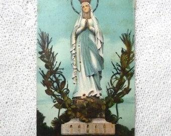 1930s Postcard - LOURDES - Antique French Postcard from Lourdes