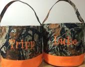 Personalized Camouflage Halloween Bucket, Camo Halloween Bag