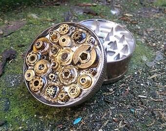 Steampunk Herb Grinder - Steampunk Clock Mess II - metal herb grinder - pepper grinder - spice grinder