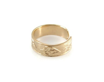 Toe ring. Gold toe ring. Classic toe ring. Adjustable toe ring. gift ideas. Gift for her. Body jewelry. (gf6624-1995)