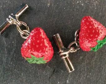 Vintage 'Strawberry' cufflinks
