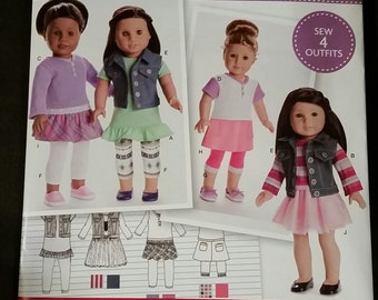 American Girl Simplicity Pattern #SO173 for 18 Inch Dolls