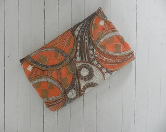 Vintage pair of curtain panels from the 70s Scandinavian modernist RETRO design.