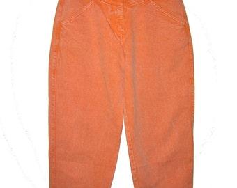 High Waist Orange Mom Jeans  Tapered leg Size 40/S