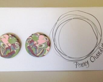 Mulberry Powder Puff Scribble Earrings