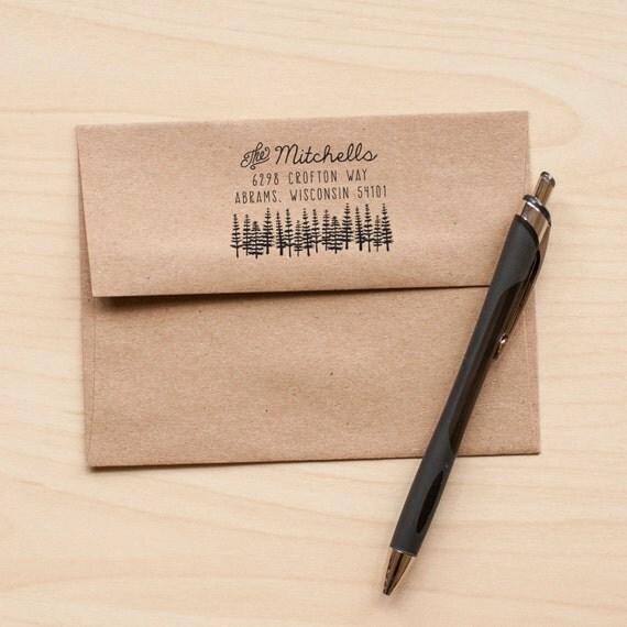 Tree address stamp, return address rubber stamp, stationery stamp, invitation stamp, custom stamp custom address wedding stamp calligraphy