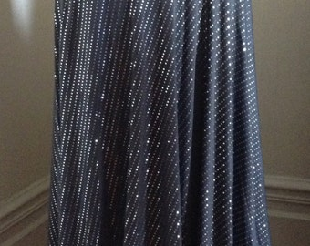 bellydance skirt, Grey and silver, gunmetal bellydance