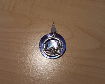 Mermaid shell pendant