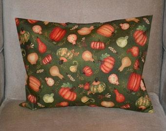Travel Pillow Case / Accent Pillow Case of AUTUMN PUMPKINS and GOURDS