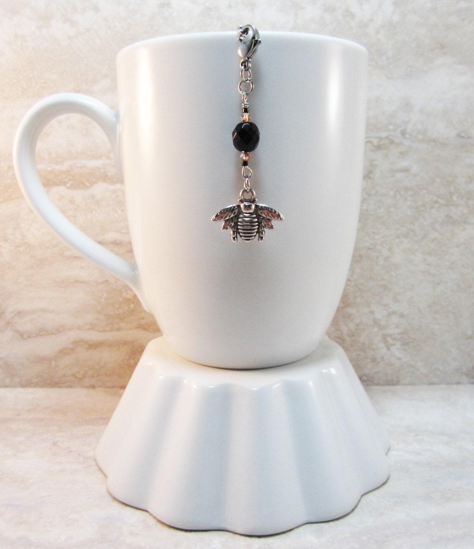 honeybee tea infuser charm antique silver finish
