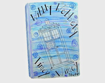 Tardis Notebook - Dr. Who Journal - Geeky Journal - Dr. Who Notebook - Doctor Who - Police Box - Tardis - Wedding Guest Book - Birthday Gift