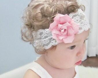 Flower headband - pink