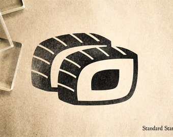 Sushi Roll 6 Rubber Stamp - 2 x 2 inches