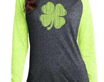 St. Patrick's Day Shirt,For Her ,Gift for her,Ladies St. Patrick's Day, Clover Shirt,Soft Shirt,Green shirt,Raglan Ring Spun Cotton,Shamrock