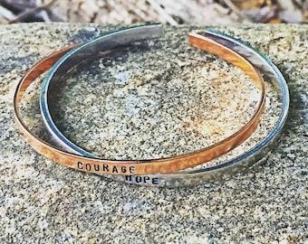 mantra bracelet, mantra saying, mantra jewelry, inspirational bracelet, personalized cuff, minimalist cuff, skinny cuff, stacking bracelet