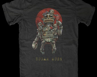 Robot t-shirt | Alien t-shirt | Alien shirt | Alien T Shirt | UFO T Shirt | Area 51 | Alien Abduction | Roswell |  - Sugar Rush -