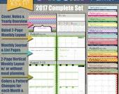 "NEW! 2017 Printable Planner - Seasonal Design - Academic Year - Sized Large 8.5"" x 11"" PDF"