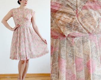 SALE * Denarius Dress * 1950s R&K Originals novelty Roman coin dress * Size 12-14