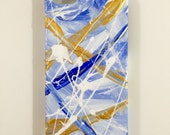 iPhone 5/5s - Cellphone Case - Abstract Original Artwork - Contemporary Painting - Hand Painted Art - Blue White Gold