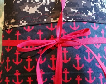 Anchor Print Baby Crib blanket and fitted sheet set With Digital Camo