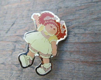 Vintage Cabbage Patch Kid Brooch, Cabbage Patch Kids Pin, Cabbage Patch Kids Jewelry, Cabbage Patch Kids Memorabilia