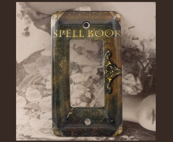 Metal Spell Book Rocker Light Switch Cover Gfi By