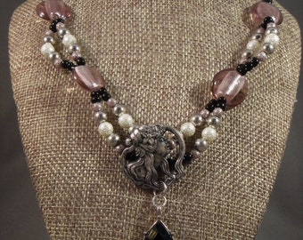Art Nouveau Inspired Bead Necklace