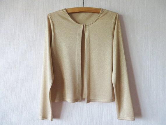 beige golden jacket glitter bolero jacket brocade jersey. Black Bedroom Furniture Sets. Home Design Ideas