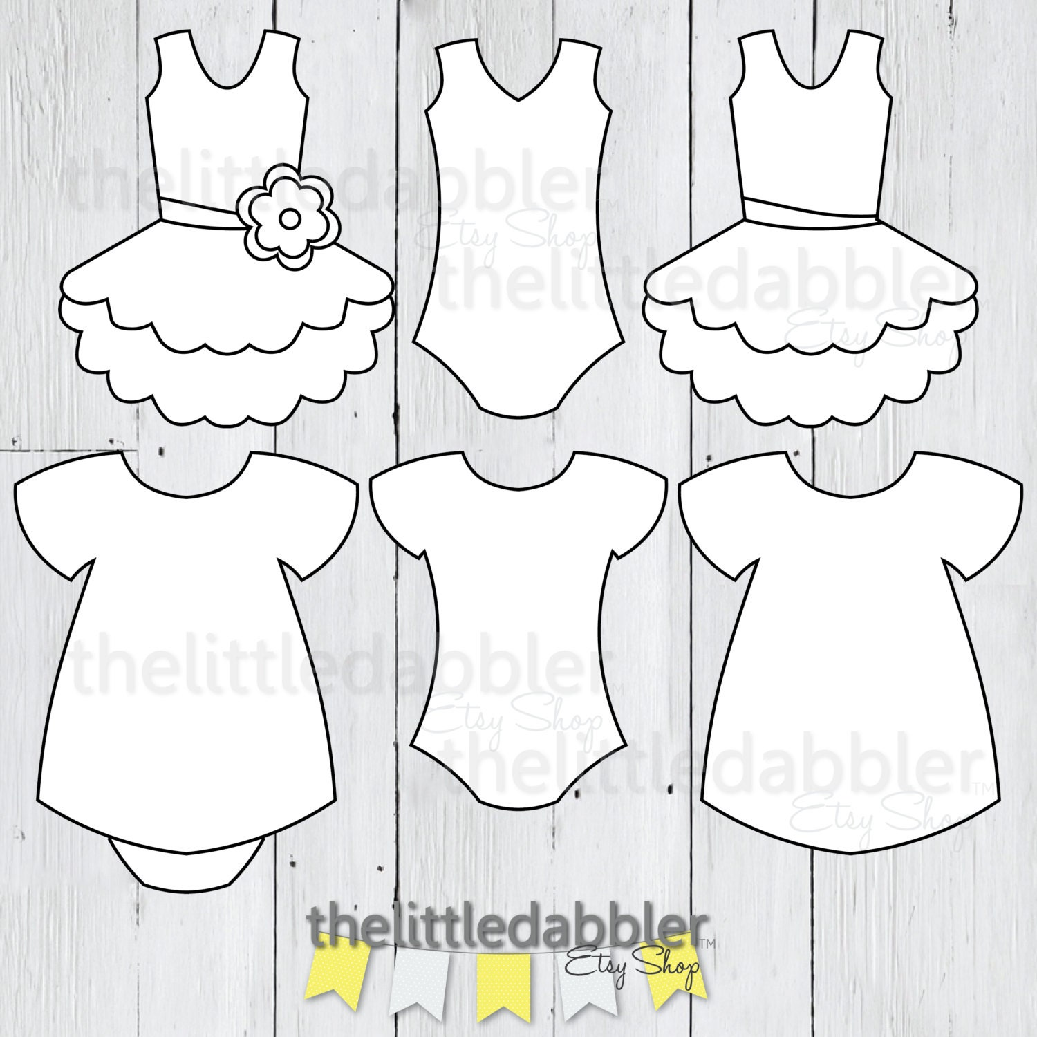 Baby Shower Templates Girl ~ Dress and tutu templates baby shower girl onesie