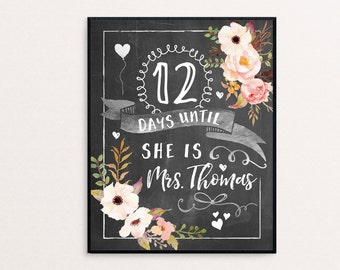 Bridal Shower Sign - Custom Chalkboard Bridal Shower Sign - Personalized Printable or Print