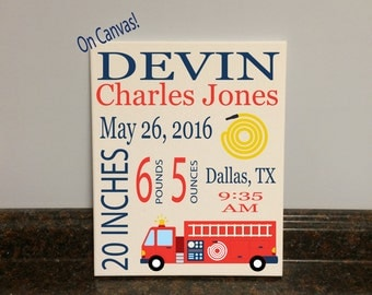 fire truck nursery wall decor fire truck birth stats fire truck wall decor fire truck theme fire truck room fire truck baby shower gift